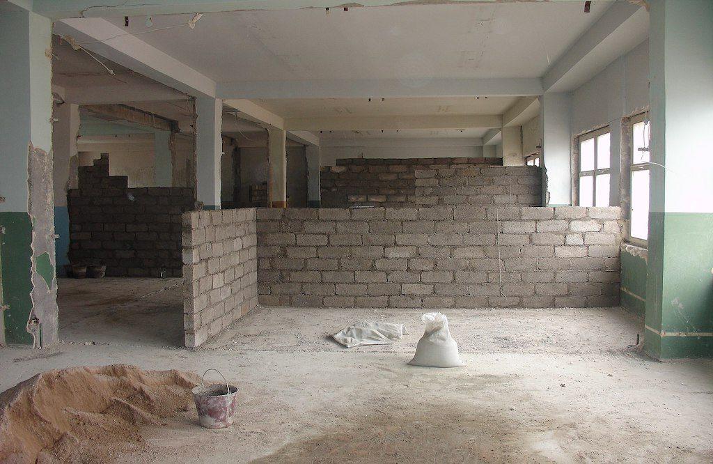 Bereinigung am Ende der Bauarbeiten