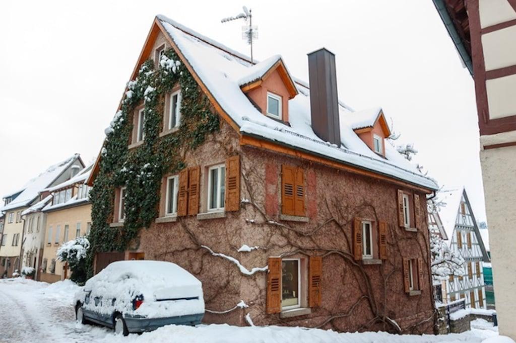 Hausreinigung im Winter
